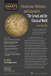 2020-2021 Scholar Year Poster: Phoenicians, Philistines, and Canaanites: The Levant and the Classical World