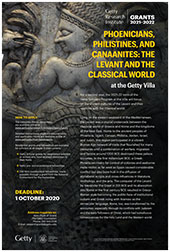 2021-2022 Scholar Year Poster: Phoenicians, Philistines, and Canaanites: The Levant and the Classical World