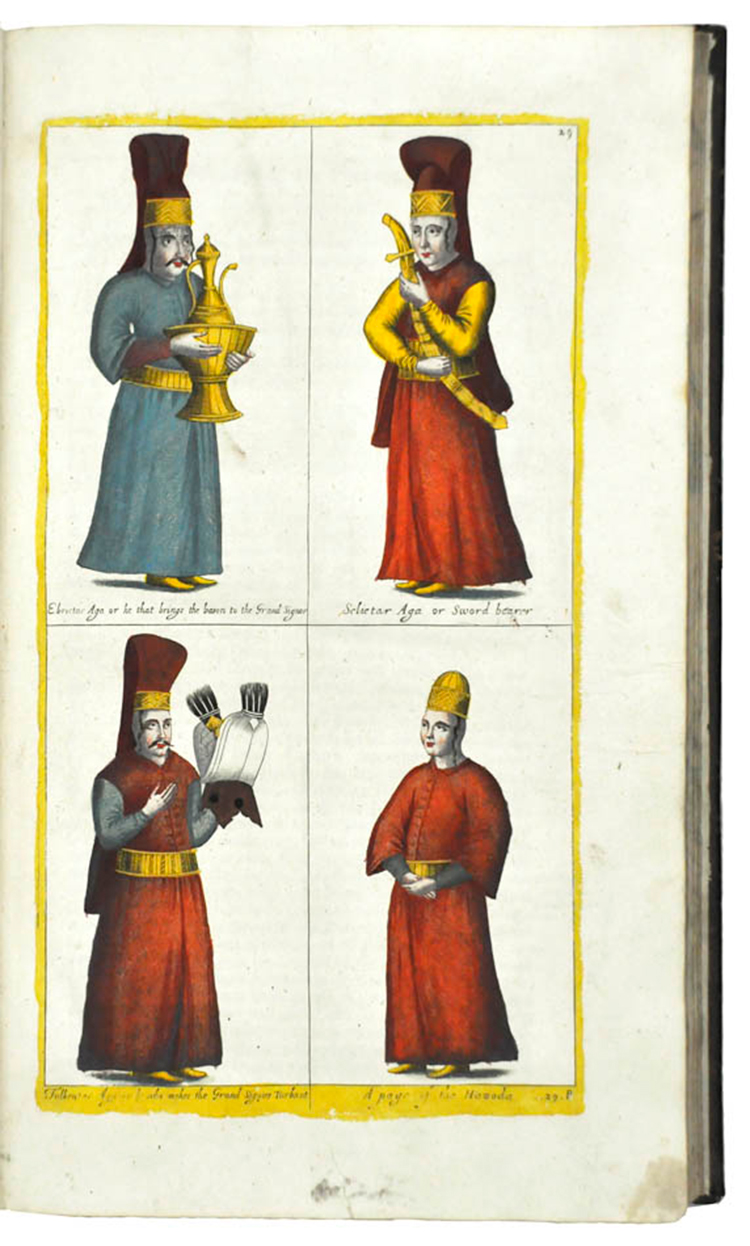 Four attendants to the Ottoman Sultan / Rycaut