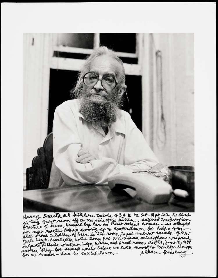 Harry Smith at Allen Ginsberg's kitchen table  / Ginsberg