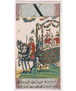 Göbl/Tarot or trump card depicting a hunter's wagon laden with game from öbl's Baurn Hochzeit (circa 1765)