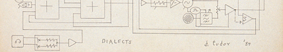 David Tudor, Circuitry diagram for Dialects (detail), 1984 (980039)