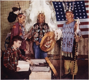 Harry Smith recording Native American music