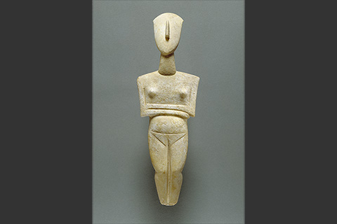 Image of a Cycladic sculpture.