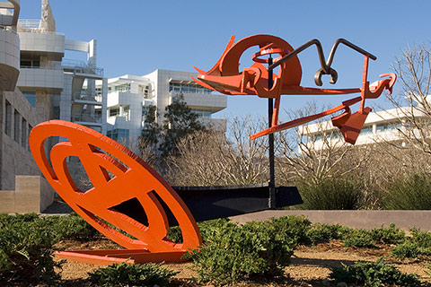 'Gandydancer's Dream,' an outdoor sculpture by Mark di Suvero, 1987-1988.