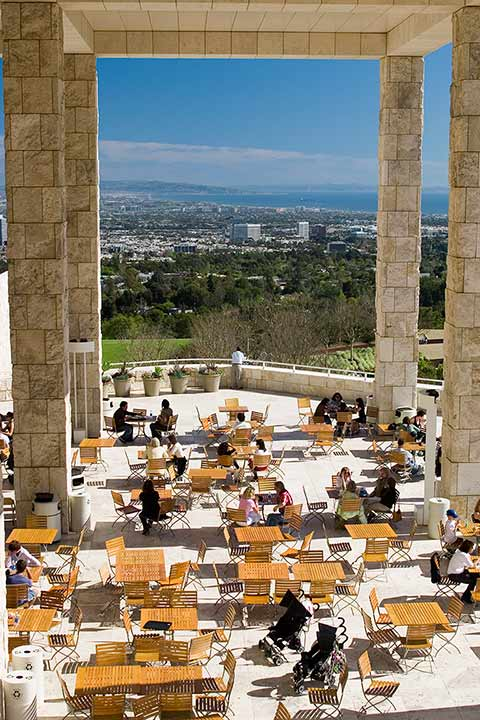 Eat visit the getty the getty for Terraces opening times
