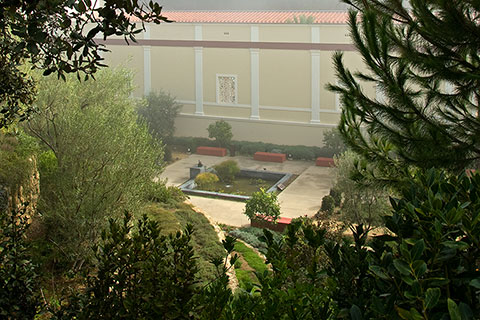 View of the Villa from the scenic pathway that leads to the heart of the site.