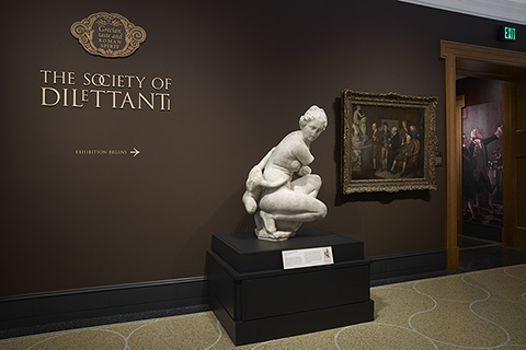 "Gallery view of a special exhibition from 2008, ""Grecian Taste and Roman Spirit: The Society of Dilettanti."""