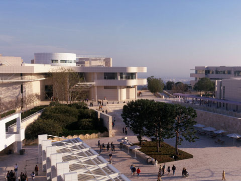 Jump to the Getty Center