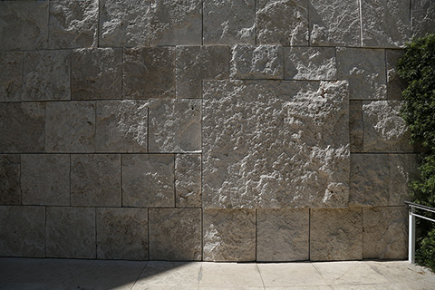 The 1.2 million square feet of travertine stone covers many surfaces of the Getty Center.