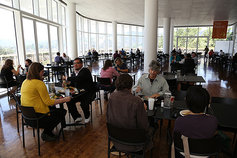 Interior view of the Cafe at the Getty Center.